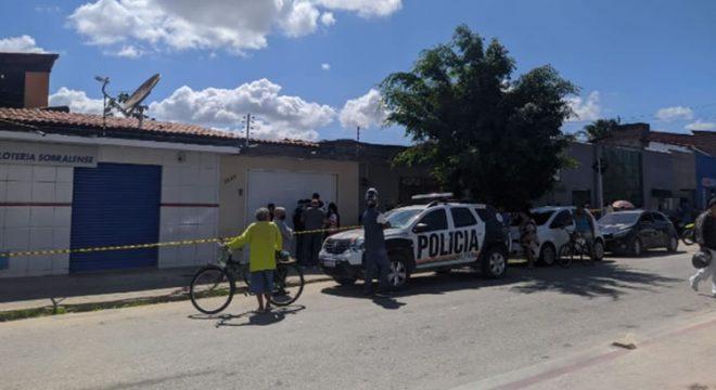 Assaltante morre baleado ao tentar roubar casa lotérica em Fortaleza