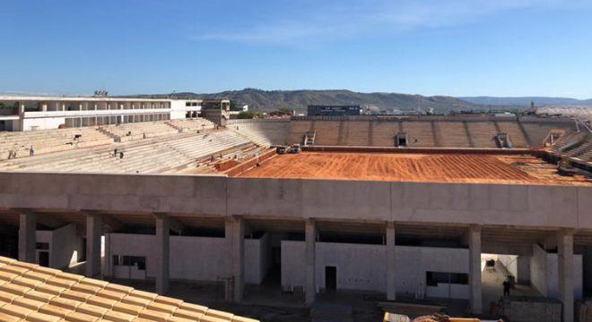 Arena Romeirão está com obras bem avançadas