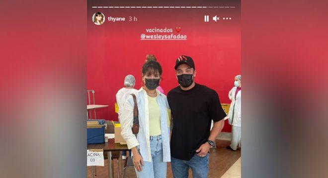 Mulher de Wesley Safadão, Thyane Dantas tomou 'xepa' da vacina contra Covid, diz cantor