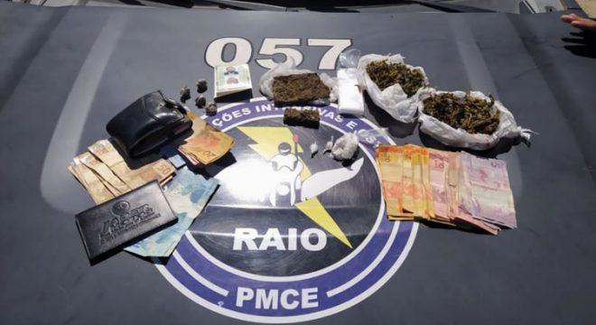 RAIO prende casal em Brejo Santo acusado do tráfico de drogas