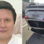 Cantor Giovani, da dupla com Gian, dorme ao volante e carro capota em rodovia
