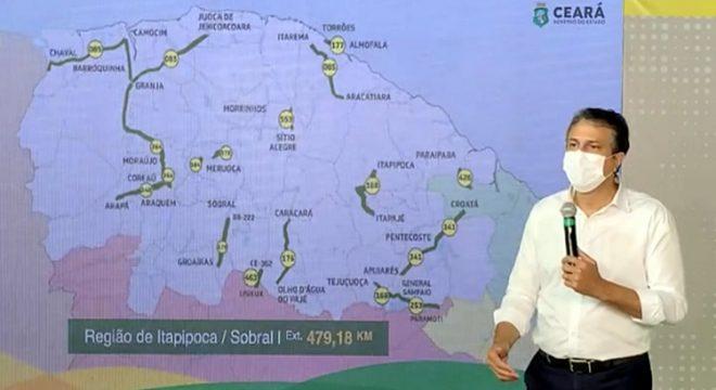Ceará recebe novo pacote de recuperação de estradas, com 121 trechos incluídos no programa