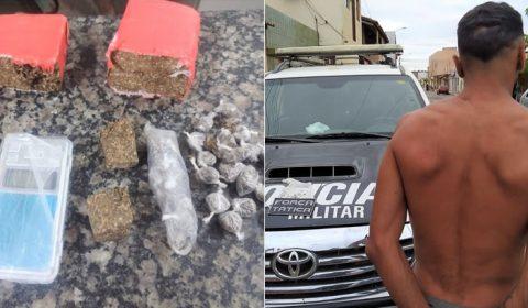 """""""Zói"""" foge do RAIO em Crato e abandona drogas e outro preso em Mauriti com cocaína"""