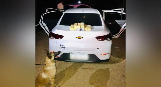 Casal preso em Crato com muita droga num carro de aluguel por aplicativo